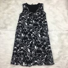 Old Navy Maternity Womens Dress Size M Medium Sleeveless Black White Floral (P)
