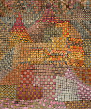 PAUL KLEE TOWN CASTLE ABSTRACT ART GICLEE PRINT FINE CANVAS