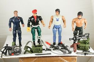 Rambo Forces of Freedom Coleco 1985 Figures Gripper John Rambo Lot