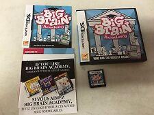 Big Brain Academy (Nintendo DS, 2006) COMPLETE GAME BOX MANUAL NES HQ
