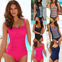 Women Tummy Control Push Up Monokini Swimsuit One Piece Beach Bathing Swimwear