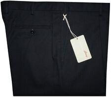 $850 NEW BRIONI CANNES BLACK 2 PLEAT COTTON STRETCH CASUAL DRESS PANTS 42
