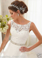 New White/Ivory Lace Wedding Dress Bridal Gown custom size 6 8 10 12 14 16 18+++