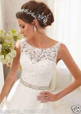 New White/Ivory Lace Wedding Dress Bridal Gown custom size 6 8 10 12 14 16 18+++