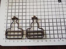 2 x Dungaree Fasteners Clip Brace Buckles in  Bronzes Slider Bib for Straps 40mm
