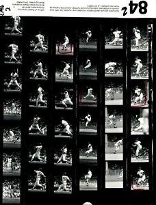 LD221 ORIG Contact Sheet 1984 Baseball Detroit Tigers California Angles Johnson