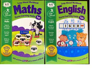 Leap Ahead Maths & English Book 4-5 Reception Starting School Learning Workbooks