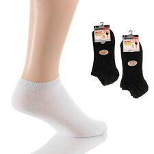 6 x Mens Big Foot XL King Size Trainer Socks Extra Large King Size black