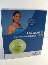 Palla ginnica HUDORA gymnastikball 75 per esercizi fitness, colore verde limone