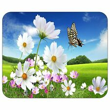 Butterfly On The Flowers Mousepad Mouse Pad Mat