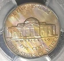 1956  Jefferson Nickel   PCGS PR65  wild toning!