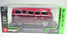"Volkswagen VW Bus T1 ""Samba"" getuned rot Maßstab 1:32 von bburago"