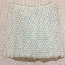 Sigrid Olsen Women's White A Line Lace Skirt Size 10 A42