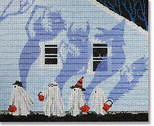 NEEDLEPOINT Handpainted Canvas HALLOWEEN Scott Church Candy Monster