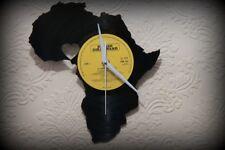"Vinyl Record Wall Clock  I love Africa Series Nigeria  Silent Mechanism 12"" LP"