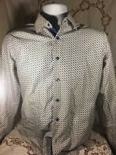 Azaro Uomo Italian Collection Small Button Front Long Sleeve Shirt New