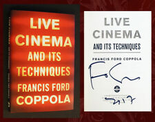 FRANCIS FORD COPPOLA SIGNED IN PERSON - Live Cinema and Its Techniques - 1st Ed!