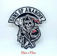 Sons of Anarchy Skull Biker Jacket Iron on Sew on Embroidered Patch #1329