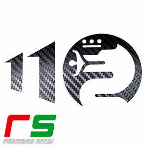 alfa romeo ADESIVI logo 110 anniversario cruscotto sticker decal cover