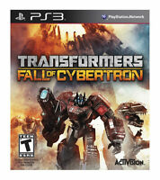 TRANSFORMERS FALL OF CYBERTRON New With Slip Cover Playstation 3 ps3