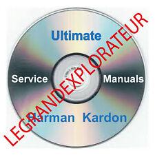 Ultimate Harman Kardon  Repair  Service Manual & Schematics       550 PDF on DVD