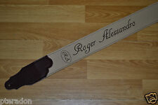 Laser Engraved Custom Leather Guitar Strap Great Christmas Gift, or Band Promo