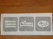 eat sleep Subaru funny sticker decal scooby wrx sti