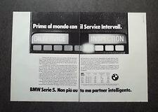 H855- Advertising Pubblicità -1982- BMW SERIE 5 , SERVICE INTERVALL