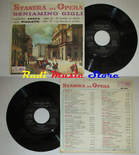 LP 45 7'' BENIAMINO GIGLI Tosca Rigoletto 1960 italy LA VOCE PADRONE cd mc dvd