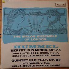 SOL 290 Hummel septata/QUINTET/Melos Ensemble Scanalato 1st