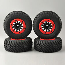 4X 1/10 RC Short Course Truck  4 TRAXXAS Off-road Tires&Bead-Lock Wheel 12mm Hex