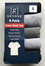 Men's George Crew Neck T-shirts, Grey/ Black (S, L) or White (M, L, XL, 2X)