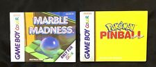 Lot of PINBALL & Marble Game Manuals - Nintendo Gameboy Advance - GBA, SP, DS