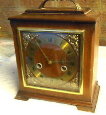 SMITHS ENFIELD. Chiming Carriage Clock Inlaid with Gold Meddalions. Works.