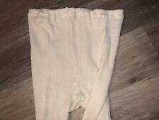 Womans / Mans Offwhite Cotton Winter Tights Size XXL