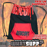 REDCON1 OFFICIAL DRAWSTRING BACKPACK Red on Black Bodybuilding Gym Bag Cott/Poly