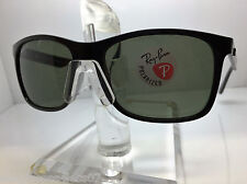 AUTHENTIC RAYBAN  RB 4232 601/9A  BLACK/GREEN POLARIZED LENS 57MM