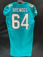 #64 JAKE BRENDEL MIAMI DOLPHINS GAME USED AUTHENTIC NIKE JERSEY SZ-46 YR-17 UCLA