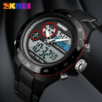 SKMEI Men Sports Wrist Watch Double Time Alarm 50m Waterproof Stopwatch 1429 EA