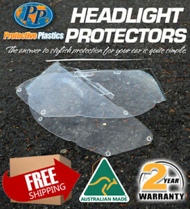 HEADLIGHT PROTECTOR TO SUIT  NISSAN NAVARA D22 01-15 LAMP COVERS CLEAR