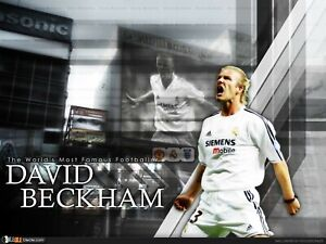 David Beckham Reproduction archival quality photo