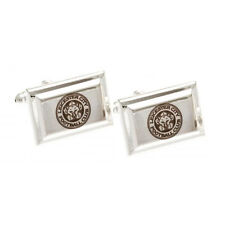 LEICESTER CITY FC SILVER PLATED SHIRT CUFFLINKS CUFF LINKS BOXED NEW GIFT XMAS