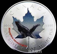 Canada 2015 Whales Silver .999 1oz Coin (UNC) (Color)