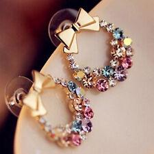 Boucles d'oreilles couleurs crystal mode esthétique généreux élégance raffinée