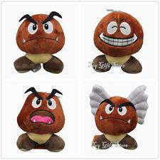 "4 pcs New Super Mario Bros. Angry Goomba Plush Doll Stuffed Toy 5.5"""