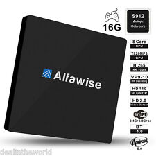 Alfawise S92 Smart TV Box Android 6.0 Amlogic S912 Octa-core 2.4G + 5,8G Wi-Fi