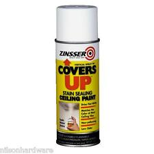 3 Pk 13 Oz White Zinsser Covers Up Flat Stain Sealing Spray Ceiling Paint 03688