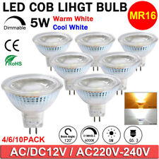 2x 10x Dimmable MR16 LED Spotlight Globe Bulbs 5W 12V 220V Replace 50W Lights UK