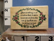 Nothing can seperate us Roman 8:38 RUBBER STAMP  6q