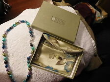 """HONORA Multicolor Freshwater Pearl 17"""" Necklace Sterling Silver n box,New,pearls"""